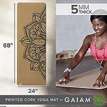 """Cork Yoga Mat (68""""L x 24""""W)"""