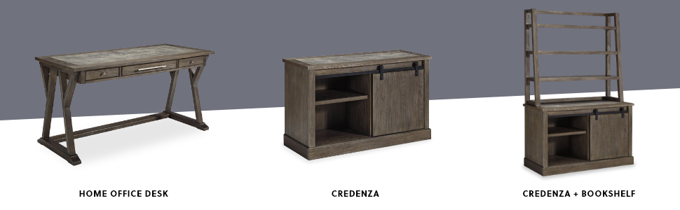 home office desk file cabinet credenza hutch bookshelf pieces options components