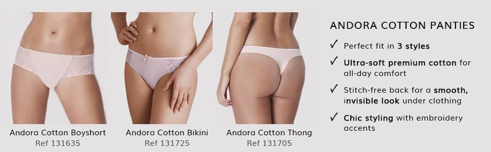 Simone Perele Paris, Andora, Andora cotton panties, Bras, Panties, French lingerie, thong