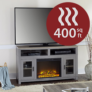Amazon Com Ameriwood Home Carver Electric Fireplace Tv Stand For Tvs Up To 60 Wide White Furniture Decor