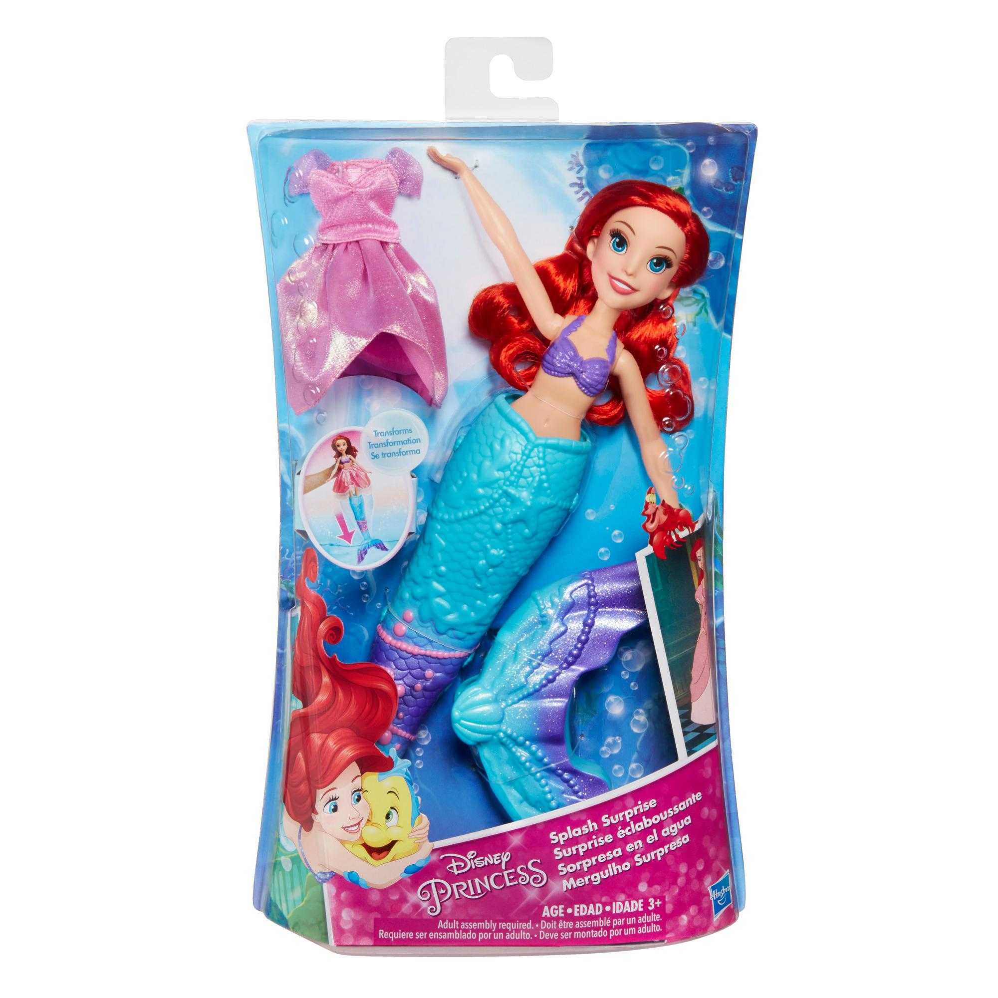 Amazon.com: Disney Princess Splash Surprise Ariel: Toys ...