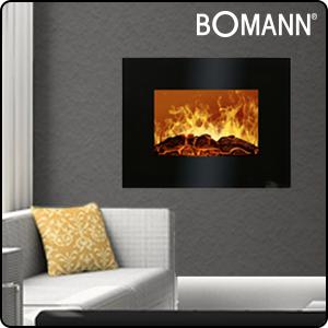 Heizlüfter Heizgerät Bomann EK 6021 CB schwarz Kamin