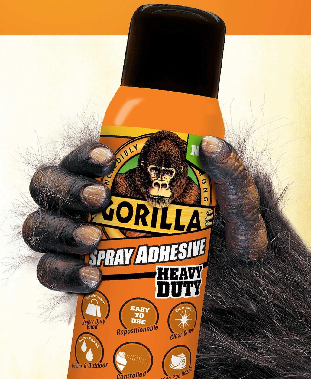 Amazon Com Gorilla 6301502 Spray Adhesive 14oz Clear