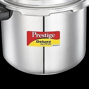 Prestige Svachh Deluxe Alpha Stainless Steel Pressure Cooker SPN-FOR1