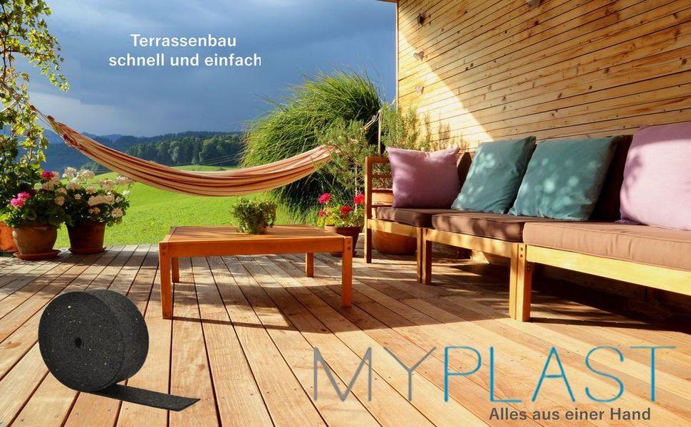 - Gummigranulat Unterlegpads Terrassenpads auf Rolle Bautenschutzmatte Streifen Gummipads als Unterlage f/ür WPC Terrassendielen und Terrassenplatten Terrassenbau 5Mx50x3mm 5m x 50mm x 3mm