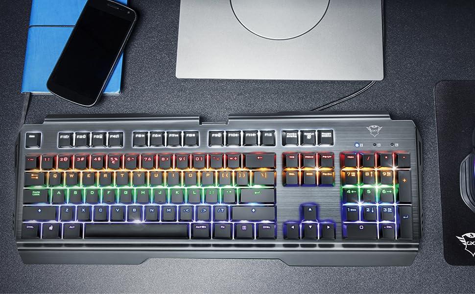 Trust Gaming Gxt 877 Scarr Mechanische Gaming Tastatur Computer Zubehör
