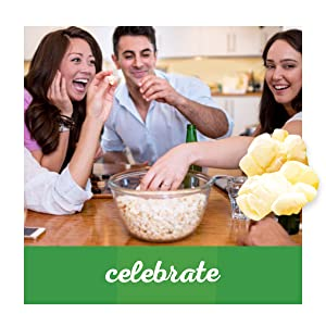 Celebrate with gourmet fat free popcorn with Orville Redenbacher's SmartPop!