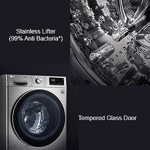 lg durable front load washing machine