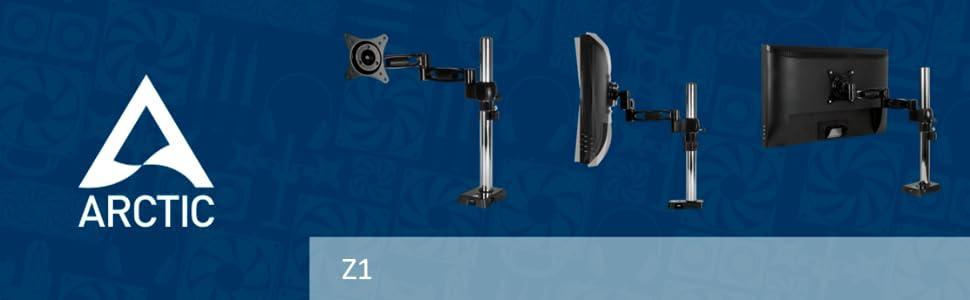 Noir Ajustable Support Mural pour Moniteur jusqu/à 43//49 Ultrawide et jusqu/à 20kg Support Mural pour Ecran VESA 75//100 Flexibilit/é ARCTIC W1A R/èglages Faciles