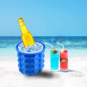 Risultati immagini per Secchiello ghiaccio in silicone portaghiaccio refrigeratore bevande bottiglie