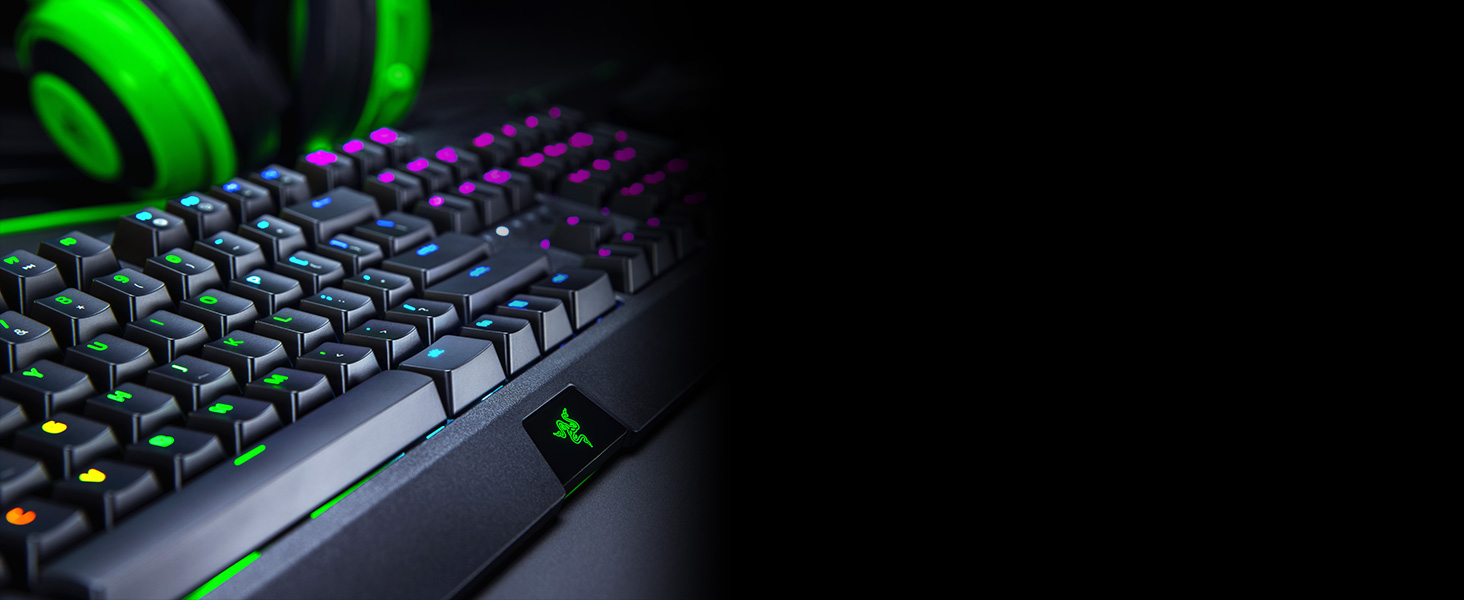 Razer BlackWidow Mechanical Gaming Keyboard 2019: Green Mechanical Switches  - Tactile & Clicky - Chroma RGB Lighting - 10 Key Anti-Ghosting -