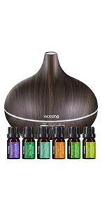 VicTsing Diffuser with Essential Oils Set