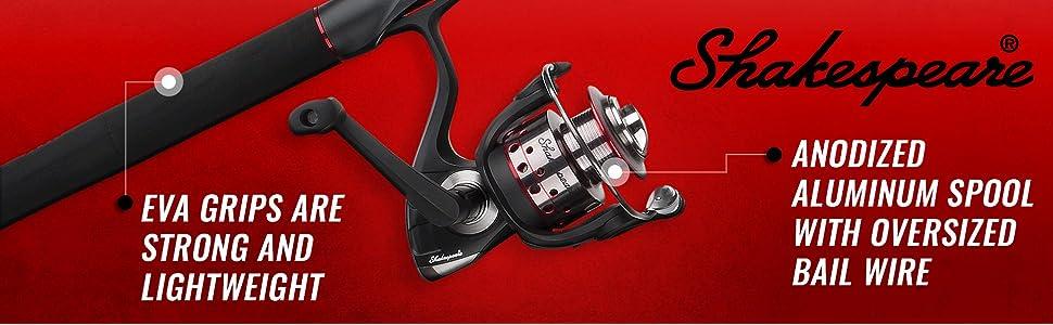 UglyStik GX2 Spinning Fishing Reel and Rod Combo