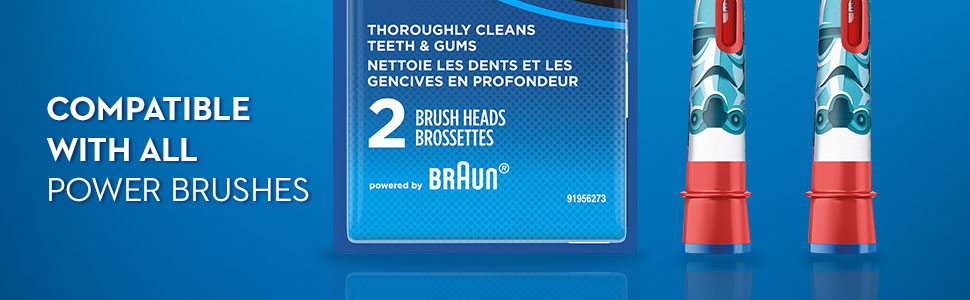 Compatible with a variety of power brushes