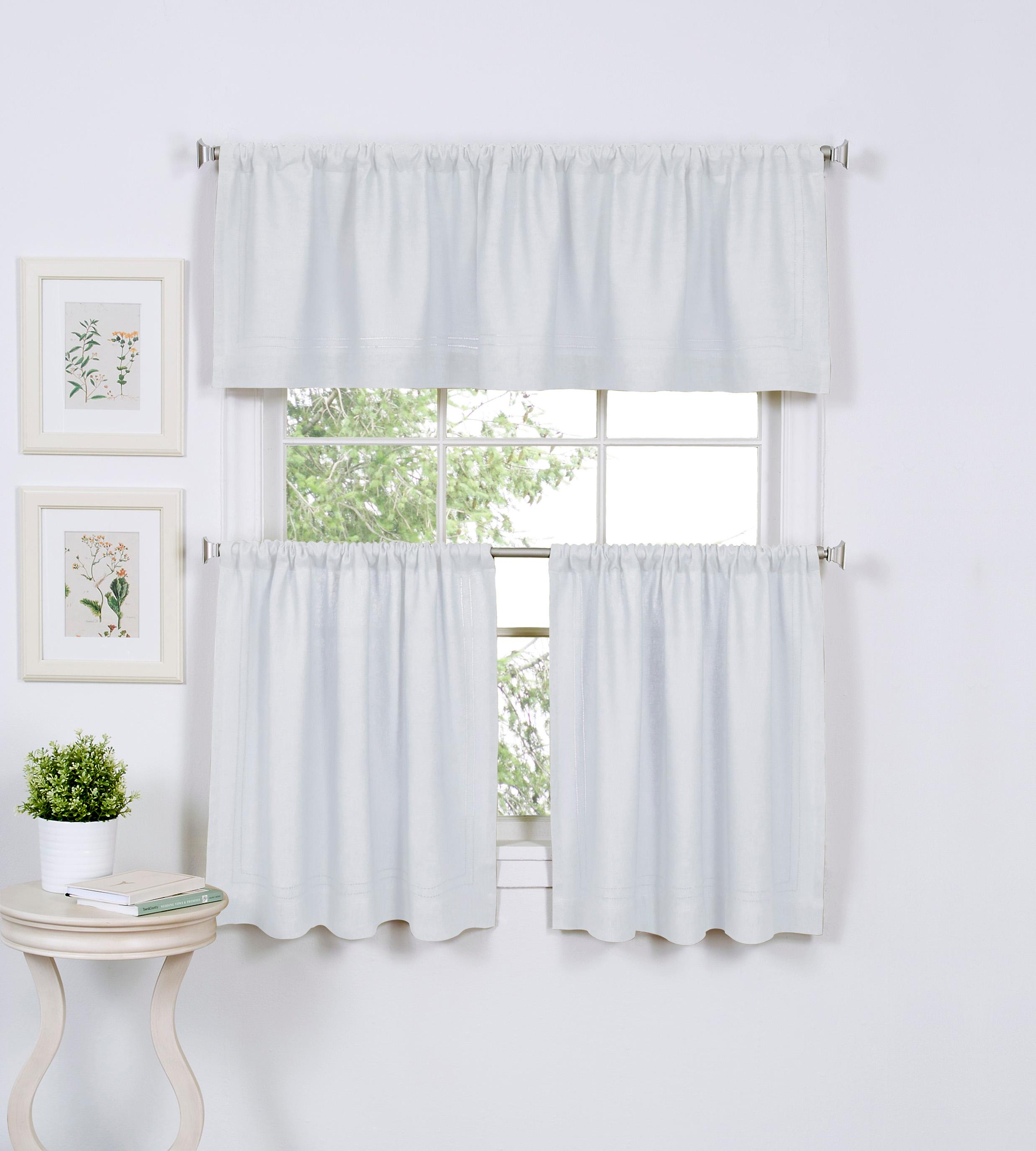 Elrene Home Fashions Cafe Kitchen Curtain Tier Valance