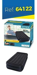 colchón hinchable, Intex, cama hinchable, hinchable Fiber-Tech, colchón y flocado, Intex y colchón