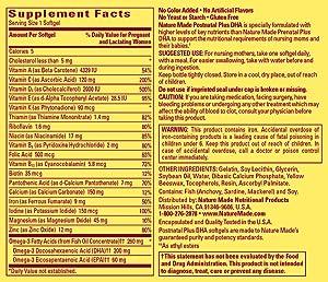 Nature Made MultivitaminSupplement Facts