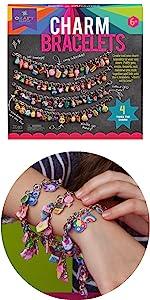 jewelry craft kit for kids DIY bracelets for girls puffy sticker crafts for kids gift for kids ages