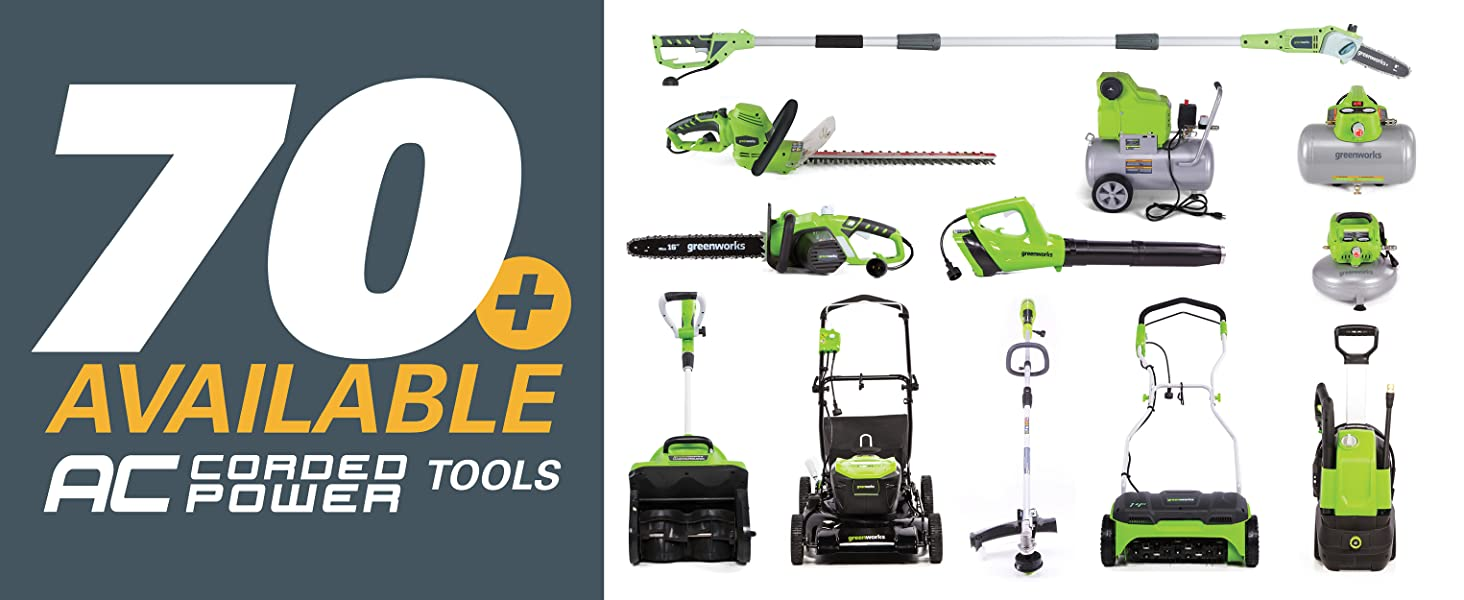 corded tools, outdoor power, lawn and garden