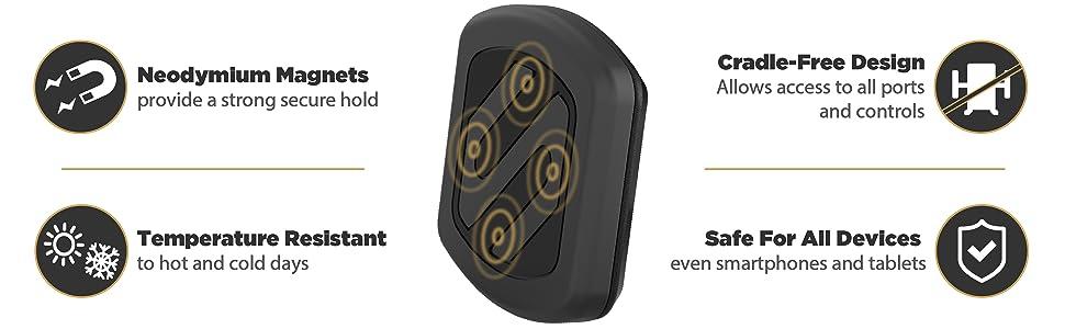 Amazon Com Scosche Magwdm Magicmount Universal Magnetic