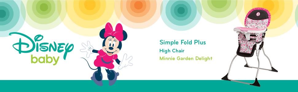 Simple Fold Plus High Chair - Minnie Garden Delight