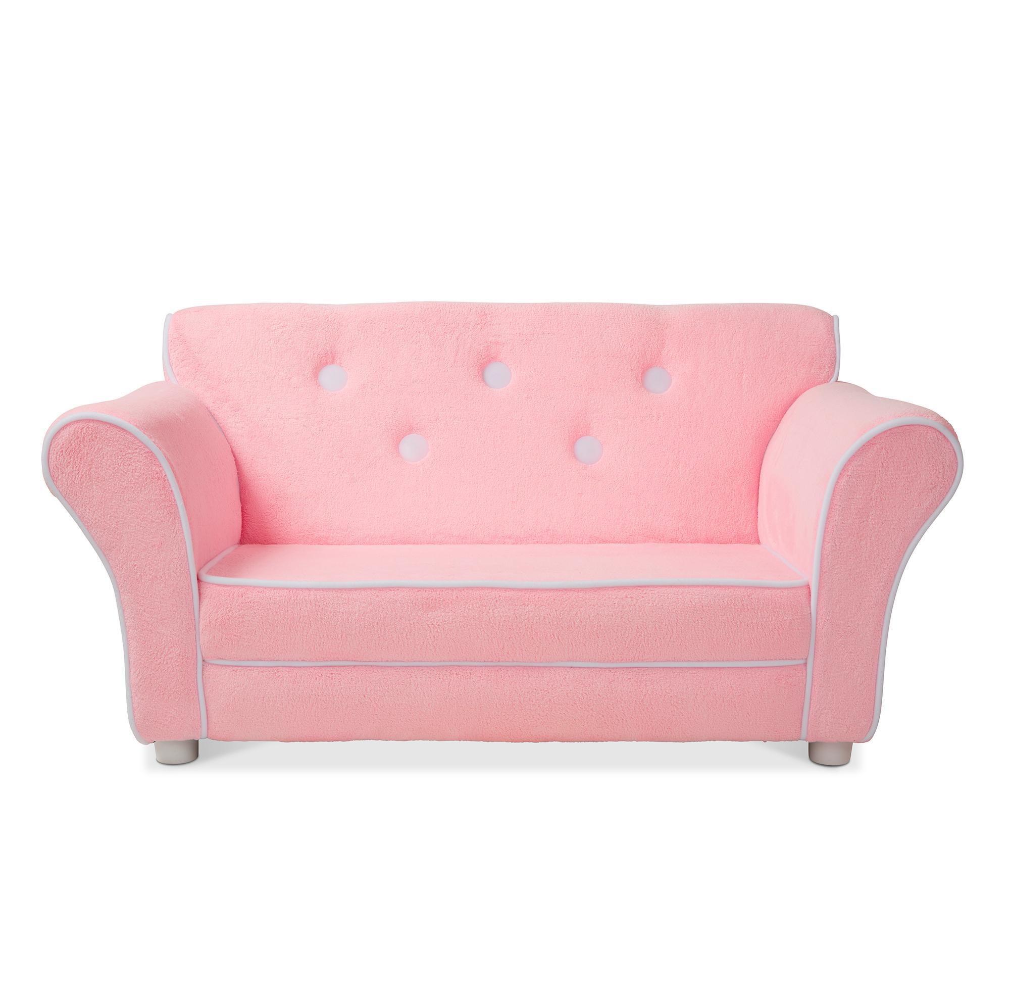 Amazon Com Melissa Doug Child S Sofa Pink Plush Children S