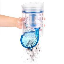touch & clean sencillo fácil cómodo práctico pulsar botón ultimate go aspirador escoba sin cable