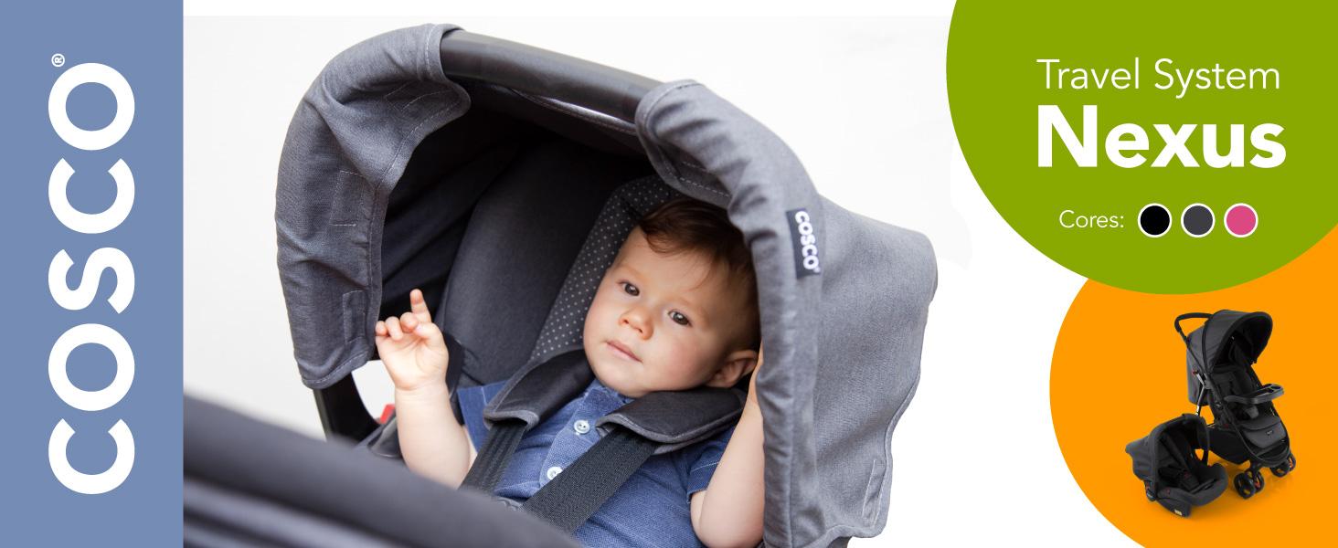 Travel, System, Nexus, Cosco, Carrinho, Bebê, Conforto, Conjunto, passeio