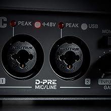 Class-A D-PRE mic preamps