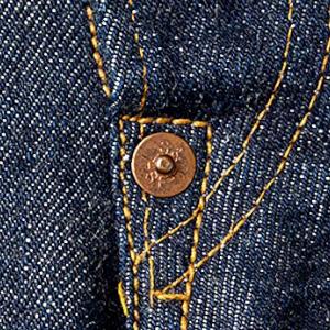 copper; rivets; jeans; levi's; levis; denim; 501; classic; original; studs; durable; long lasting