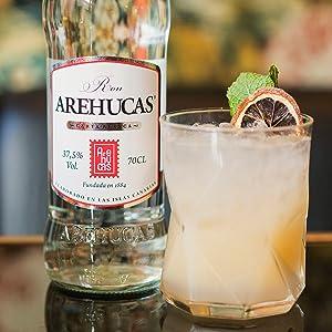 Arehucas Ron Carta Blanca - 3 Paquetes de 1000 ml - Total: 3000 ml