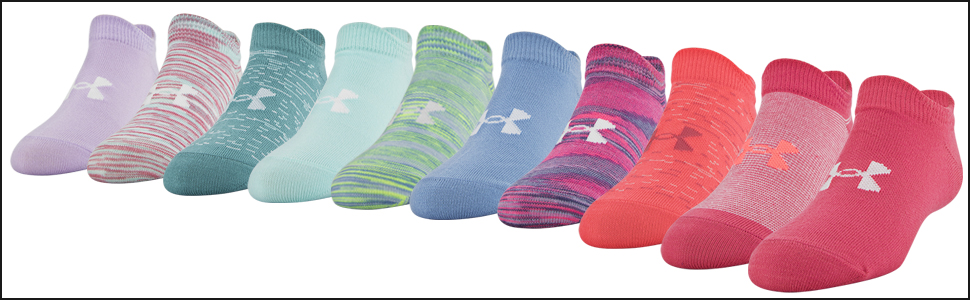 girls no show socks, ua girls no show socks, under armour girls no show socks, kids no show socks