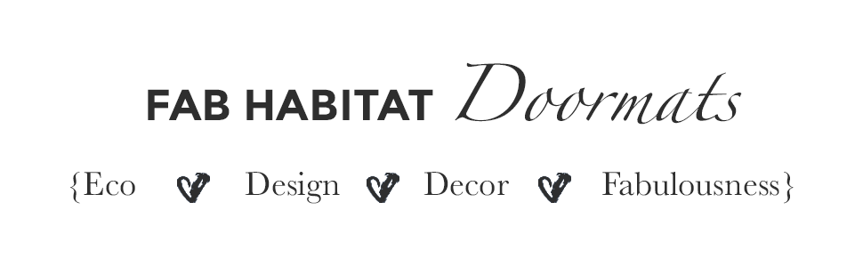 Fab Habitat, Door mat, handmade door mat, non slip door mat