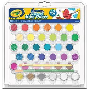 Crayola Washable Kids' Paint Set, 42-count