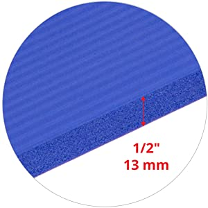 "1/2"" inch extra thick 13 mm Pilates mat yoga foam"