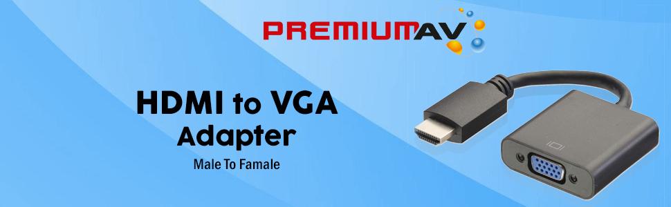 HDMI to VGA Adapter (Black)
