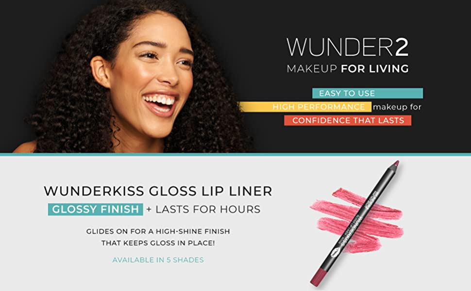 wunder2 wunderbrow lip gloss plumper liner pencil nude wunderkiss best light pink purple clear lips