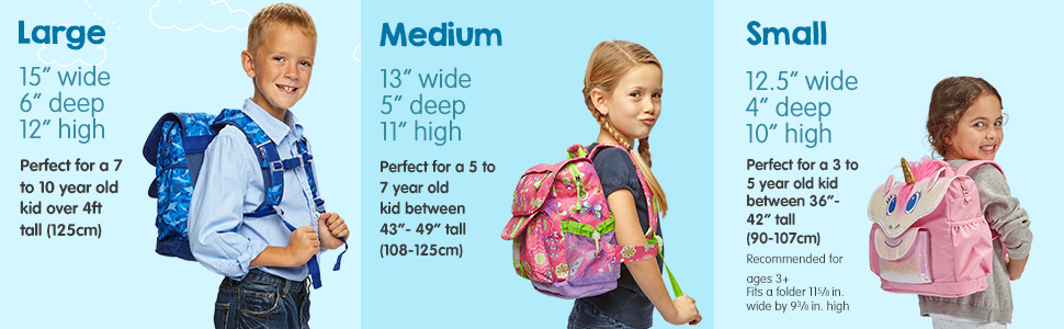 Backpack Size Chart