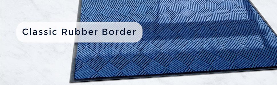 WaterHog Diamond Classic Rubber Border, Rubber Mat, Entrance Mat, Durable Mat, Clean Mat, Safe Mat