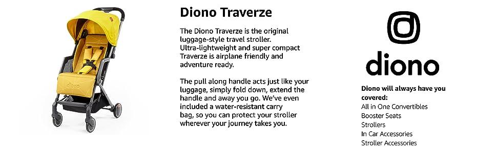 affcd2b371cc5 Diono Traverze Lightweight Travel Stroller, Black | Product US Amazon