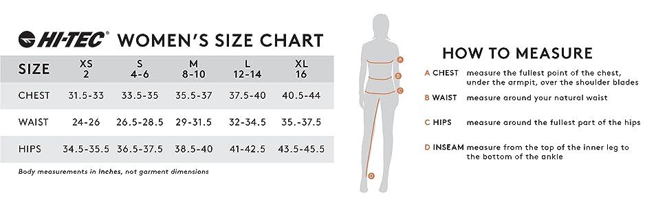 hi-tec mens size chart hi-tec mens size guide