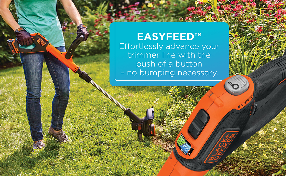 BLACK+DECKER 20V Max* Lithium Ion Cordless Easy Feed String Trimmer/Edger