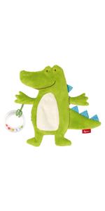 42296 Gr/ün M/ädchen und Jungen Stehauf-Krokodil Baby Activity sigikid