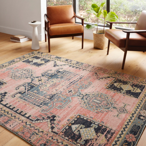 Jocelyn bold pattern colorful rug loloi