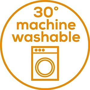 La manta se puede lavar cómodamente en la lavadora a 30 grados sin que se estropeen los tejidos, ya que además el sistema de cable es extraíble, ...
