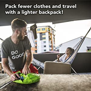 Pack fewer clothes!