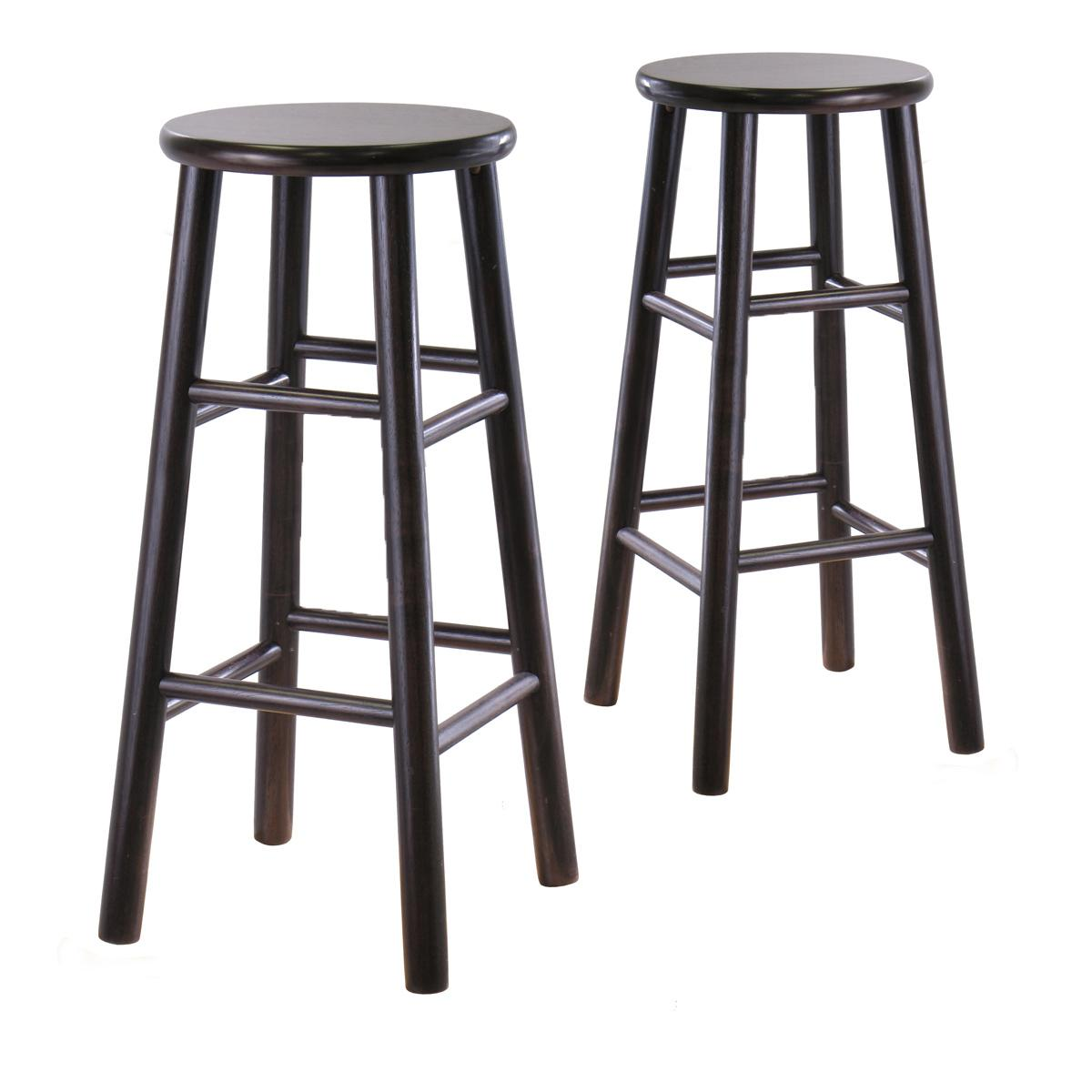 Amazon.com: Winsome Wood S/2 Wood 30-Inch Bar Stools, Espresso ...