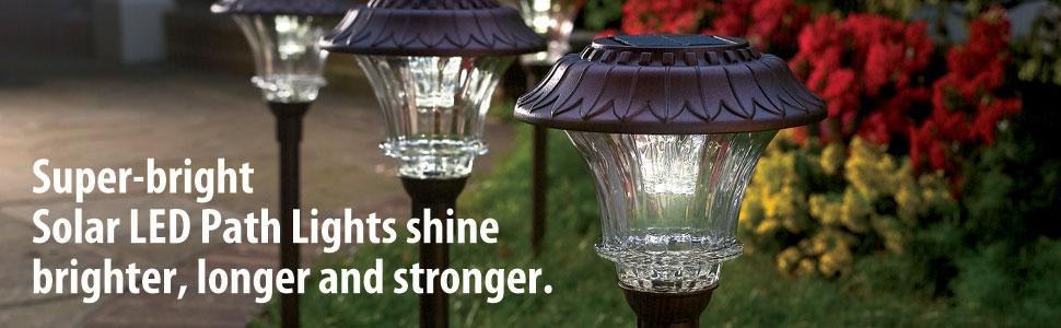 From the manufacturer & Amazon.com : Set of 4 Solar Garden Path Lights - Glass and Powder ... azcodes.com
