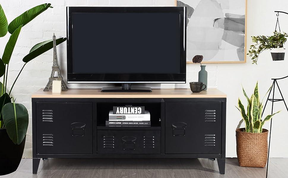 meuble télévision noir