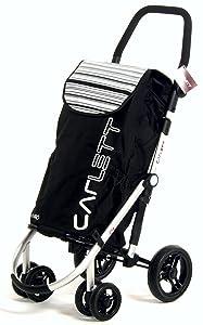 Carlett Carro DE Compra Aluminio Negro, 30x42x67 cm
